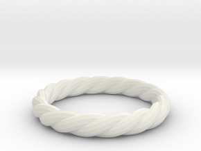 twist ring in White Natural Versatile Plastic