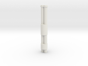 Jackhammer Rocket Barrels in White Natural Versatile Plastic