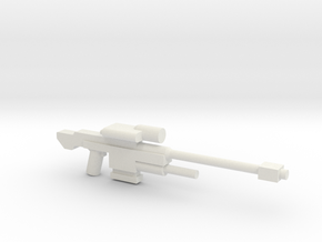 SRS 98 50.c Sniper Rifle in White Strong & Flexible