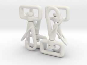 Clip Hooks with rotating webbing band. in White Natural Versatile Plastic