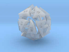 Tocrax Twenty-Sided Die in Frosted Ultra Detail