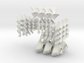 Elite Tetrahedron 80mm in White Natural Versatile Plastic
