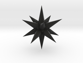 tron no seventh stellated Icosidodecahedron in Black Strong & Flexible