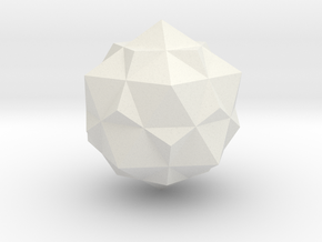 tron bit neutral combined dodecahedron icosohedron in White Strong & Flexible