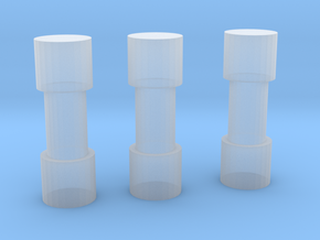 Pipe Bomb Set in Smooth Fine Detail Plastic