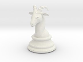 Chess piece – Ram as Bishop in White Natural Versatile Plastic