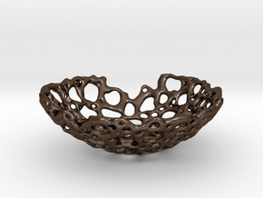 Bone Bowl II 12 cm in Polished Bronze Steel
