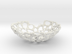 bone bowl 21cm in White Strong & Flexible