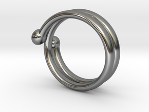 small hand ring in Polished Silver