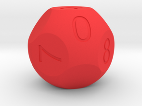 D10 3-fold Sphere Dice in Red Processed Versatile Plastic