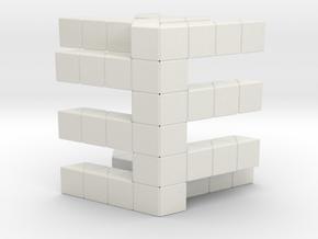 Como Box in White Natural Versatile Plastic