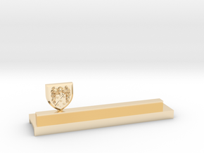 Knife holder with shield and coat of arms in 14K Yellow Gold