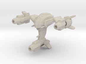 Wraith space fighter in Natural Sandstone