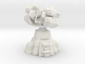 Air Defense Missile Turret  in White Natural Versatile Plastic