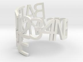 bairds-napkin-ring in White Natural Versatile Plastic