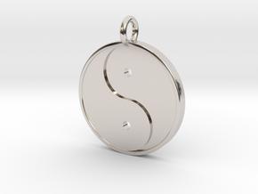 Yin Yang Pendant in Platinum