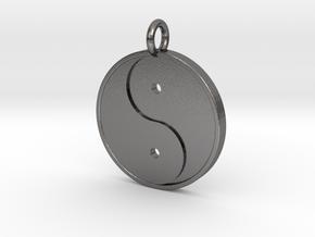 Yin Yang Pendant in Polished Nickel Steel