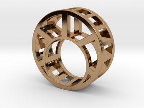 Water Wheel Ring in Polished Brass
