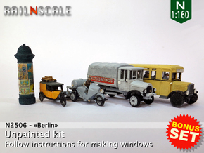 BONUS SET Berlin (N 1:160) in Smooth Fine Detail Plastic