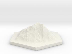 Catan mountain hexagon in White Natural Versatile Plastic