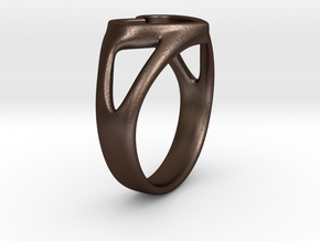 Caterina Heart ring in Matte Bronze Steel