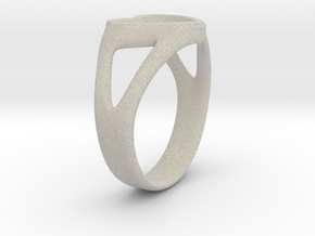 Caterina Heart ring in Natural Sandstone