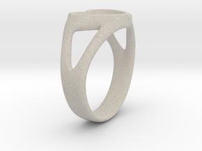 Caterina Heart ring in Natural Sandstone