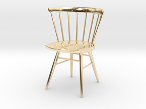 Nakashima Straight-Backed Chair - 6cm tall in 14K Yellow Gold
