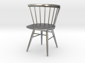Nakashima Straight-Backed Chair - 6cm tall in Natural Silver
