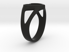 Silvia Heart ring in Black Strong & Flexible