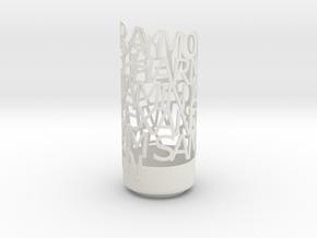 Light Poem verdana in White Natural Versatile Plastic