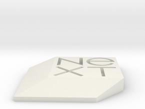 NeXT Badge in White Natural Versatile Plastic