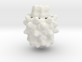 Mandelbulb in White Natural Versatile Plastic