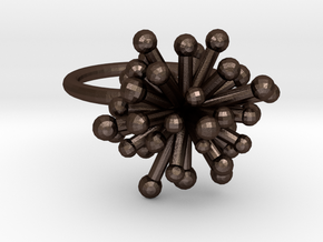 Single Starburst Ring in Matte Bronze Steel