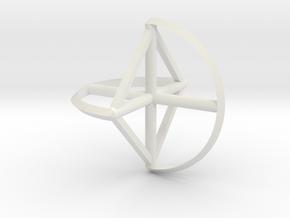 Wireframe Sphericon in White Natural Versatile Plastic