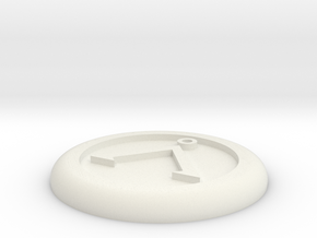 Generic base Ø30mm - Å symbol in White Natural Versatile Plastic
