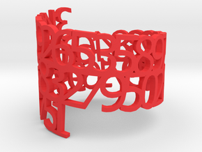 PI Napkin Ring in Red Processed Versatile Plastic