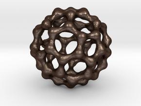 Fat Metabuckyball in Matte Bronze Steel