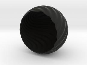 Shockwave Tea-Light Cover in Black Strong & Flexible