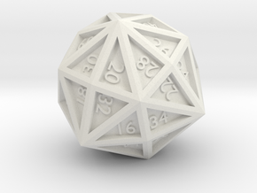 d48 - Disdyakis Dodecahedron in White Natural Versatile Plastic