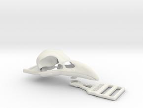 Raven buckle in White Natural Versatile Plastic