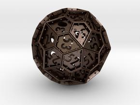 The Rosetta Dice #2 (60) in Matte Bronze Steel