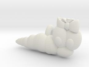 Wurmi female S4 (Test) in White Natural Versatile Plastic