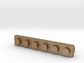 Brick Tie Clip-6 Stud in Matte Gold Steel
