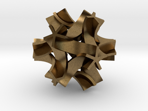 Origami I,  pendant in Raw Bronze