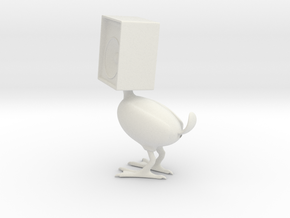 Speaker Bird in White Natural Versatile Plastic