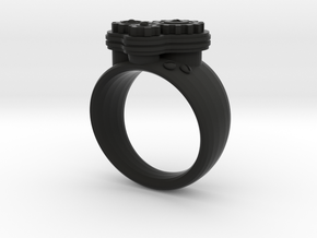 Gea Ring Type-1 in Black Strong & Flexible