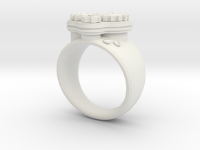 Gea Ring Type-1 in White Natural Versatile Plastic