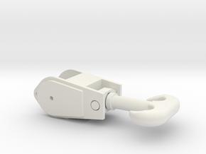 Kranhaken_mittel in White Natural Versatile Plastic