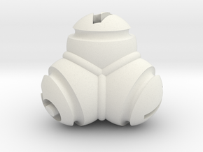 Tetrablob (large) in White Natural Versatile Plastic